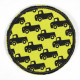 Flickli - the patch! round cars on yellow background