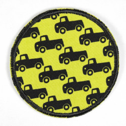 Iron-on patches on yellow tear-resistant patches suitable as iron-on patches for knees