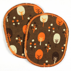 Flickli - the patch! set retro with trees iron-on-patches for kids