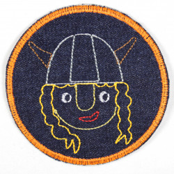 Flickli rund mit Wikinger Mädchen