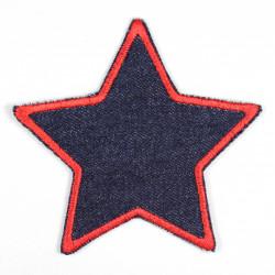 Flickli Stern Jeans blau roter Saum