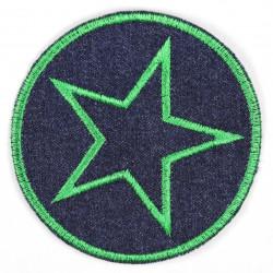 Flickli rund mit Stern grün