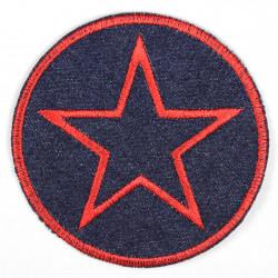Flickli rund mit Stern rot