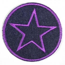Flickli rund mit Stern violet