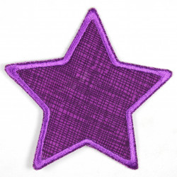 Flickli - the patch! Jeans star grid on violet