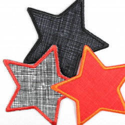 3 star patches to iron on iron-on patches red black white with stripes and checks