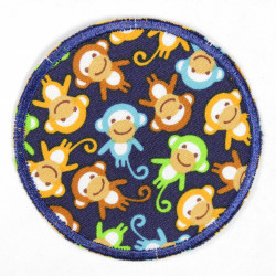 iron-on patches colored monkeys round strong applique usable knee patches