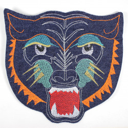 backpatch tiger head embroidered tiger patches large jeans applique