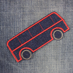 iron-on patches bus made of denim pants patches usable for knee patches sold badge made of jeans