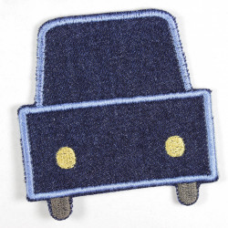 Bügelflicken Auto für Kinder Aufbügler aus Jeans Hosenflicken als Knieflicken geeignet feste denim Qualität