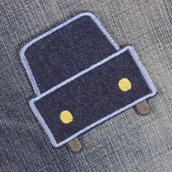 car iron-on patches for children made of denim solid jeans applique for iron on pants patches usable as knee patches