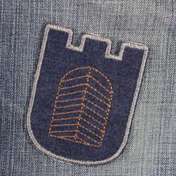 iron on patch castle applique gate on kids jeans pants