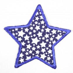 Flickli Stern mit Sternchen blau
