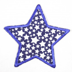 Iron-on patches star blue with white asterisk motif on blue, tearproof ideal as a knee patch