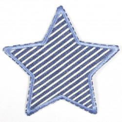 Flickli Stern mit Streifen hellblau