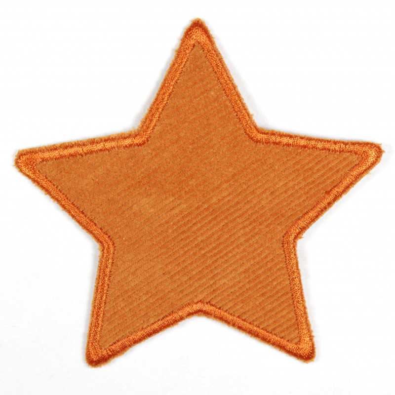 Iron-on patches star orange with orange border patch can be used as a knee patch