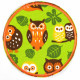Flickli - the patch! owls green round