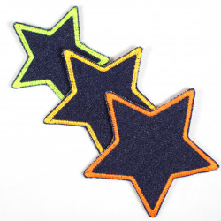 Flickli - the patch! blue jeans stars 3er set