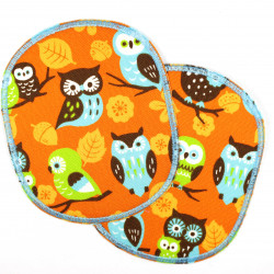 Flickli - the patch! set retro XL with owls on orange