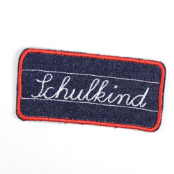 "Flickli - the patch! ""Schulkind"" school child blue white"