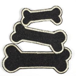Flickli Knochen Set schwarz elfenbein 3 Stück