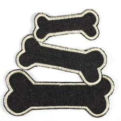 Flickli - the patch! set of 3 bones black ivory 3 different sizes