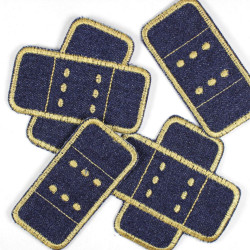 Flickli - the patch! Set jeans plaster patches 4 items blue