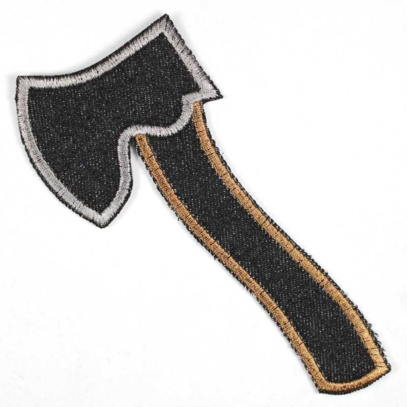 Patch ax large black, tear-resistant and ideally suited as knee patches