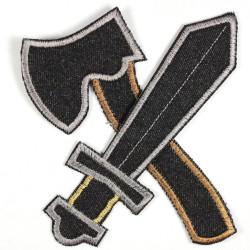 Flickli Axt und Schwert schwarz groß Set