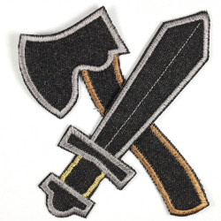 Flickli - the patch! ax and sword black large
