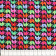 timeless treasures fabrics colored elephants on black