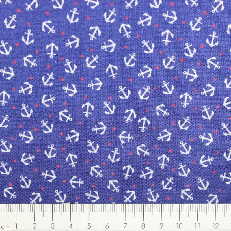 timeless treasures fabrics anchor blue on red