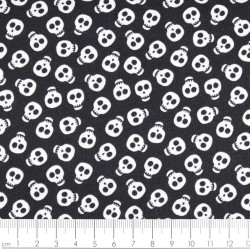 timeless treasures fabrics bones white on black