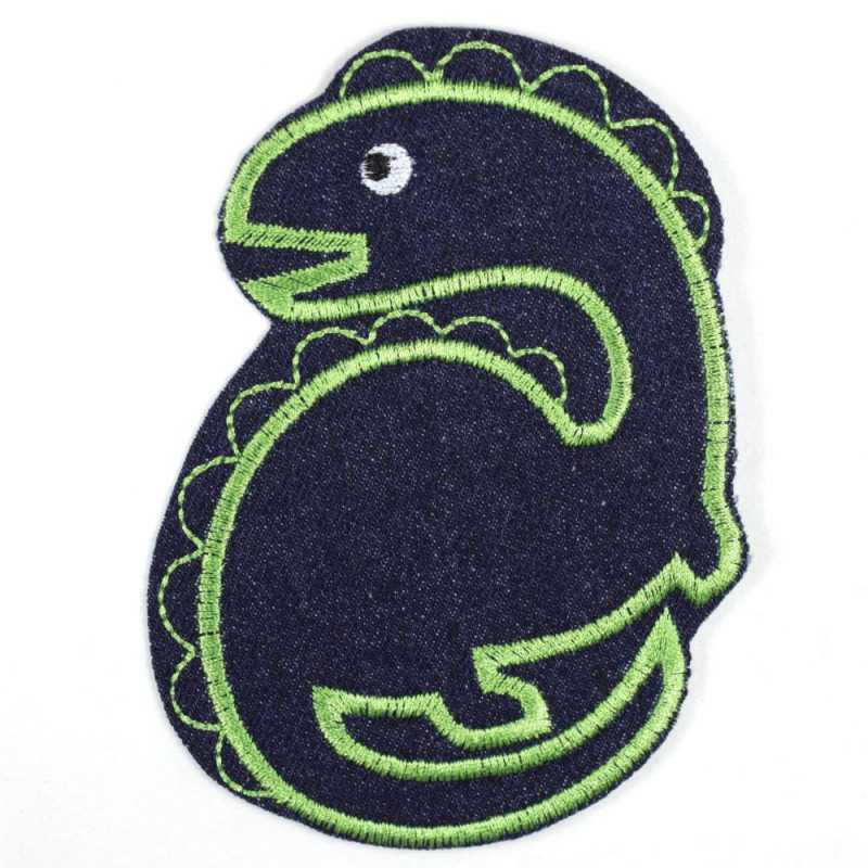 Patch Dino left-looking made of tear-resistant denim and ideally suited as knee patches