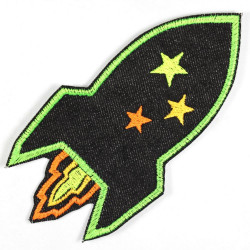 Flickli Rakete schwarz neon