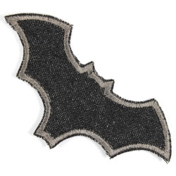 iron-on patches bat black
