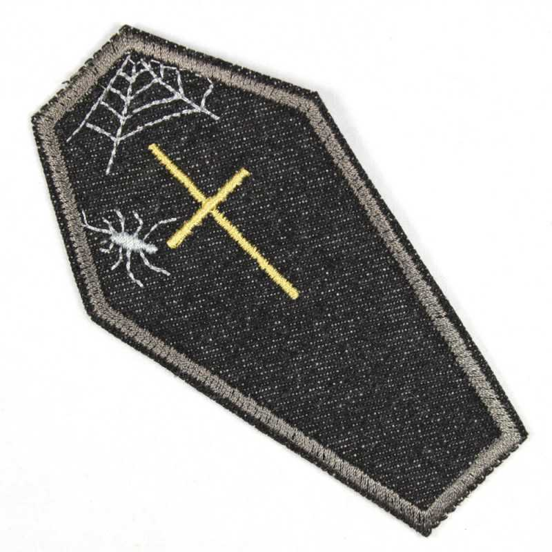 iron-on patche coffin black Patches for adults