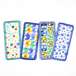 Flickli - the patch! Set colorful pavement patches 4 items stars owls and elephants