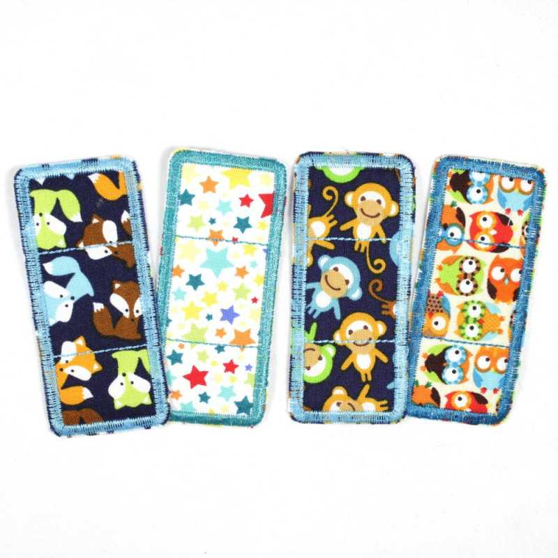 Flickli - the patch! Set colorful pavement patches 4 items stars, foxes, owls and monkeys
