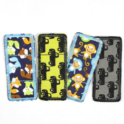Flickli - the patch! Set colorful plaster patches 4 items cars, foxes and monkeys
