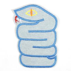Flickli Schlange hellblau
