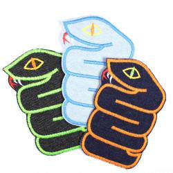 Flickli - the patch! snake lightblue