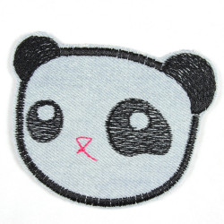 Flickli - the patch! panda lightblue bear