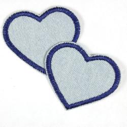 Flickli Herzen Jeans hellblau dunkelblau