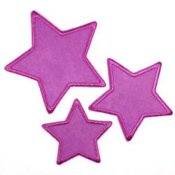Flickli - the patch! blue corduroy stars 3er set blue