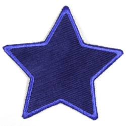 Flickli - the patch! corduroy star blue blue trim