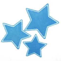 Flickli - the patch! corduroy star blue blue trim