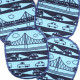 Flickli - the patch! XL set retro whales