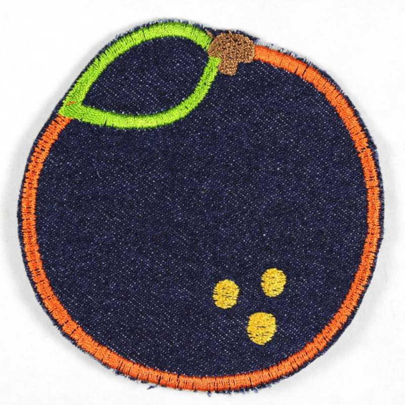 Flickli orange blue tear-resistant denim, suitable as knee patches