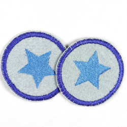 Flickli - the patch! round with green shamrock on blue